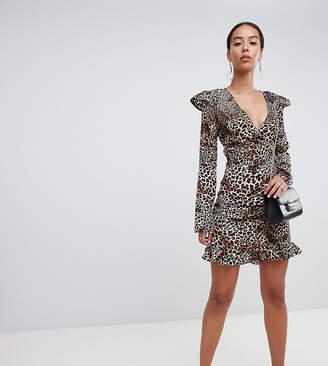 Fashion Union Tall tall mini skirt in leopard