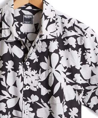 Todd Snyder Short Sleeve Camp Collar Floral Shirt