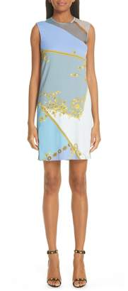 Versace Mesh Inset Barocco Print Dress