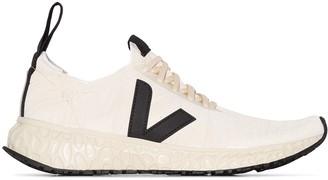 Rick Owens Veja x Veja white knit low top sneakers