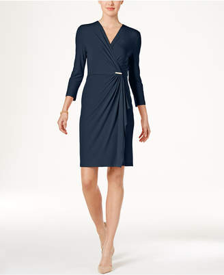 Charter Club Faux-Wrap Dress, Only at Macy's $79.50 thestylecure.com