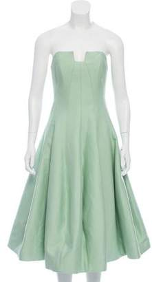 Halston Strapless Midi Dress w/Tags