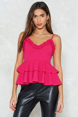 Nasty Gal Tier's to You Peplum Top