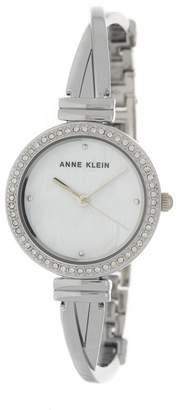 Anne Klein Women's Mother of Pearl Swarovski Crystal Bracelet Watch, 27mm