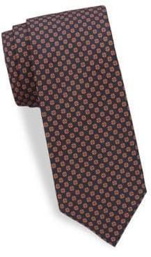 Brioni Geometric-Print Silk Tie