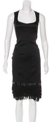 Blumarine Ruffle-Accented Silk Dress