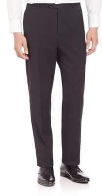 Giorgio Armani Solid Wool Trousers