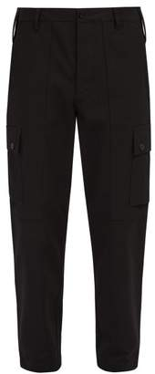 Burberry Twill Cargo Trousers - Mens - Black