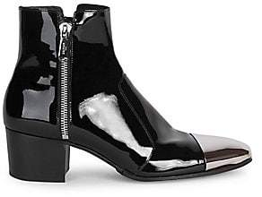 Balmain Men's Karen Patent Leather Boots