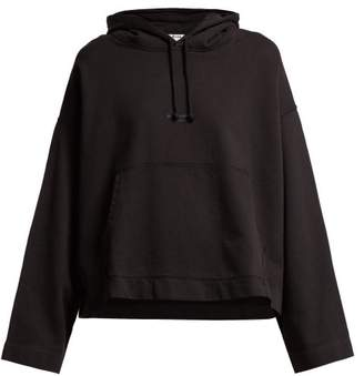 Acne Studios Joghy Logo Print Hooded Sweatshirt - Womens - Black