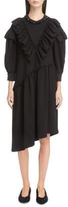 Simone Rocha Embellished Frill Shift Dress