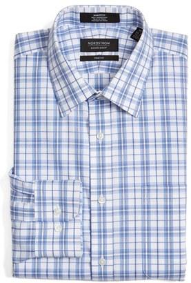 Men's Nordstrom Men's Shop Trim Fit Non-Iron Check Dress Shirt $49.50 thestylecure.com