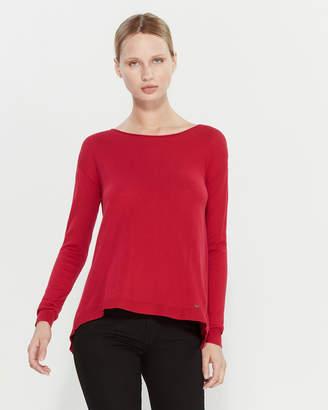 Gaudi' Gaudi Long Sleeve Layered-Look Sweater