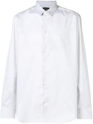 Emporio Armani curved hem shirt