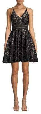 Xscape Evenings Lace Fit-&-Flare Dress