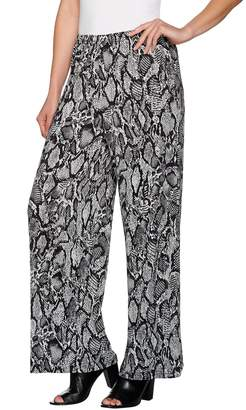 Joan Rivers Classics Collection Joan Rivers Petite Length Jersey Knit Wide Leg Pull-On Pants