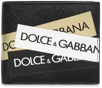 Dolce & Gabbana Logo Tape Leather Wallet
