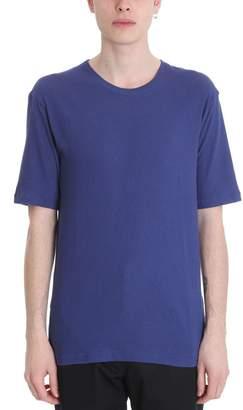 Laneus Blue Cotton T-shirt