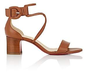 Christian Louboutin Women's Choca Ankle-Strap Sandals-Brown