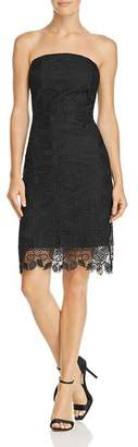 Sam Edelman Strapless Pineapple Lace Dress