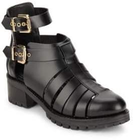 Chiara Ferragni Cutout Combat Ankle Strap Boots