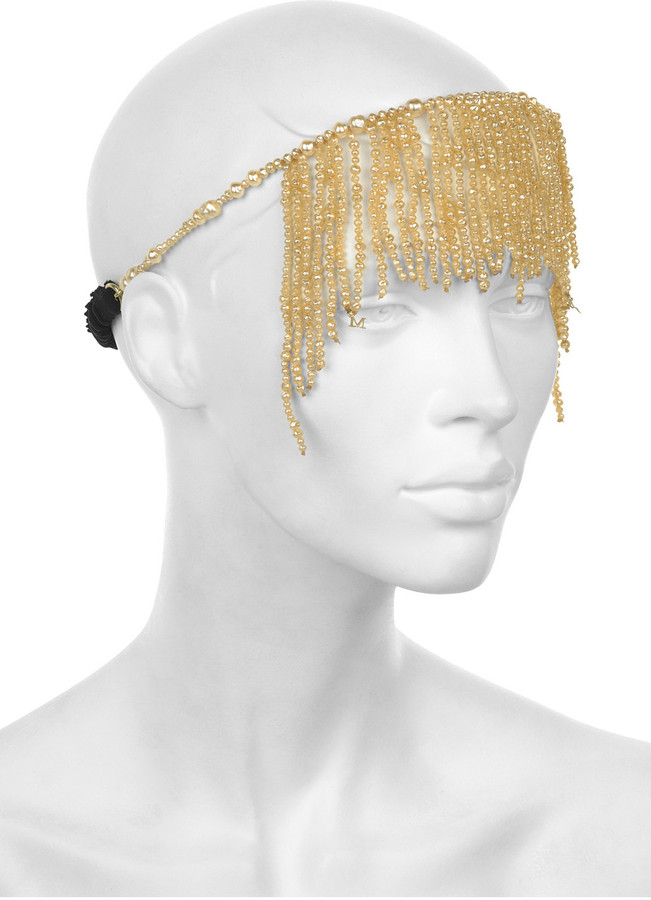 Maison Michel Sasha multi-strand pearl headpiece