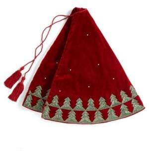 Velvet Beaded Christmas Tree Skirt