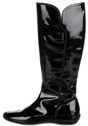 Salvatore Ferragamo Patent Leather Knee-High Boots
