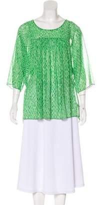 MICHAEL Michael Kors Printed Dolman Sleeve Top