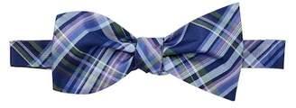 Tommy Hilfiger Oxford Tartan To-Be-Tied Silk Bow Tie