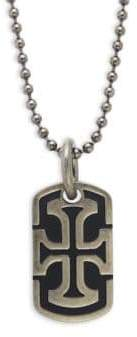 Saks Fifth Avenue Cross Stainless Steel Dog Tag