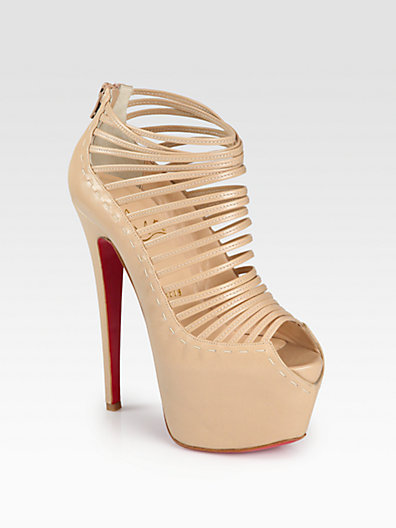 Christian Louboutin Zoulou Leather Platform Sandals