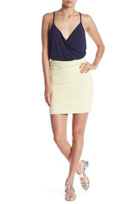 Free Press Ruched Mini Skirt