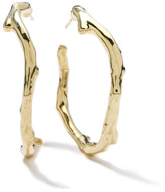 18K Gold Glamazon Reef Hoop Earrings