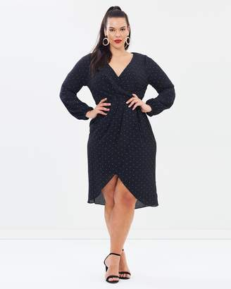 Cooper St CS CURVY Portia Long Sleeve Drape Dress