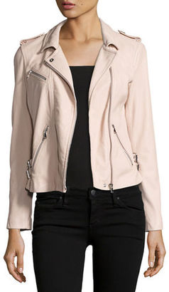 Rebecca Taylor Washed Lamb Leather Moto Jacket $895 thestylecure.com