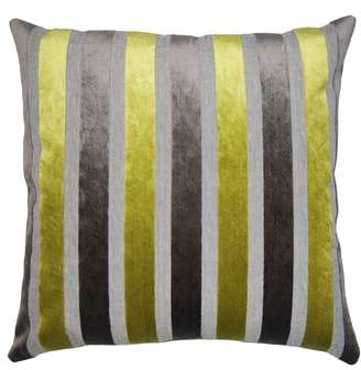 Square Feathers Stripe Accent Pillow