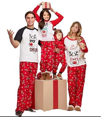 at amazon canada a multitrust family matching christmas pajamas set deer tops and long pants sleepwear for family 6