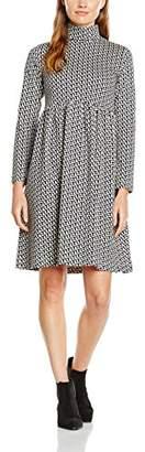 Orla Kiely Women's Polo Neck Gathered Dress,(Manufacturer Size:Medium)