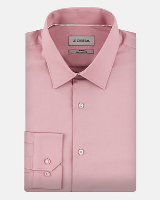 Le Château Stretch Cotton Poplin Slim Fit Shirt