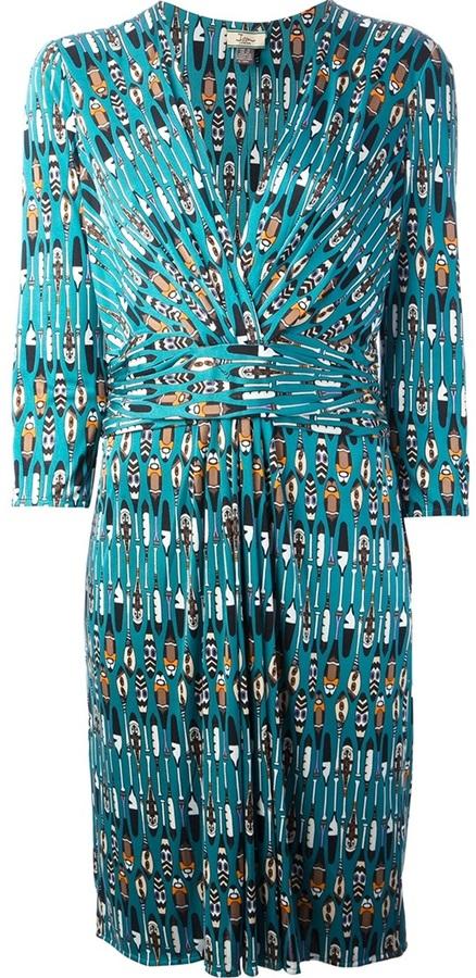 Issa oar print dress