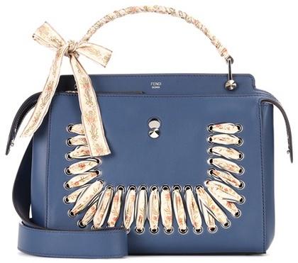 FendiFendi DotCom embellished leather shoulder bag