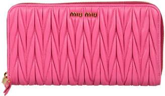 Miu Miu (ミュウミュウ) - MIU MIU レザー ラウンドジップ 長財布 フーシャ