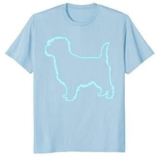 80s Retro Neon Sign Dog Cairn Terrier T-Shirt. 80's Gift