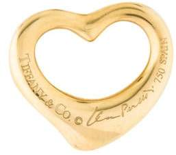 Tiffany & Co. 18K Diamond Small Open Heart Pendant