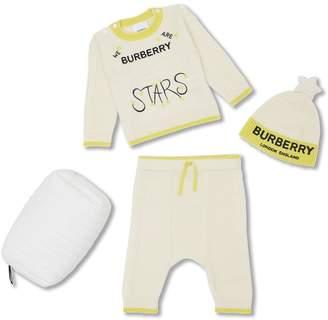 Burberry Star Motif Wool Cashmere Three-piece Baby Gift Set