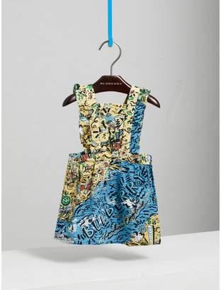 Burberry Childrens Seaside Print Seersucker Dress