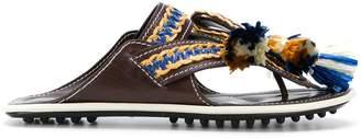 Carven macramé trim sandals