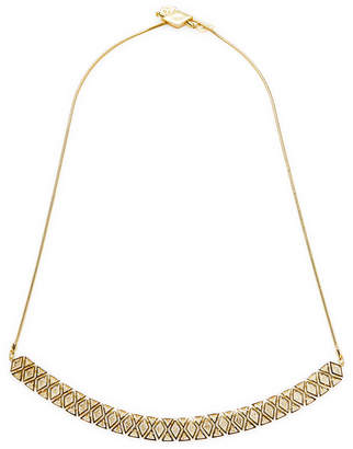 Noir Cz Stacked Triangle Collar Necklace