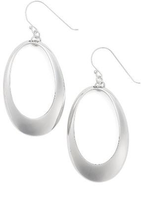 Women's Argento Vivo Large Oval Drop Earrings $45 thestylecure.com